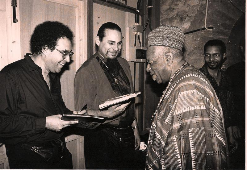 Francisco Mora Catlett with Dizzy and Steve Turre
